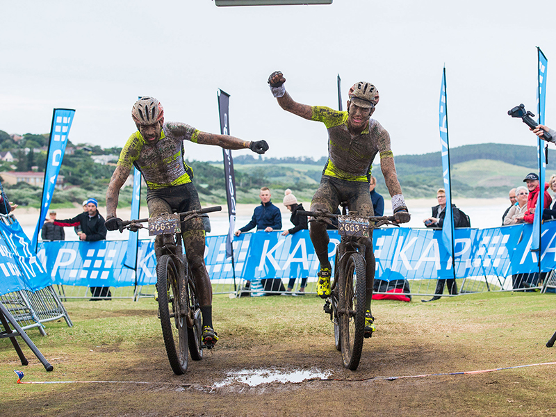 Next month the PYGA Euro Steel duo of Phil Buys (left) and Matthys Beukes are aiming to repeat their KAP sani2c triumph from 2017. Photo: Anthony Grote/ Gameplan Media