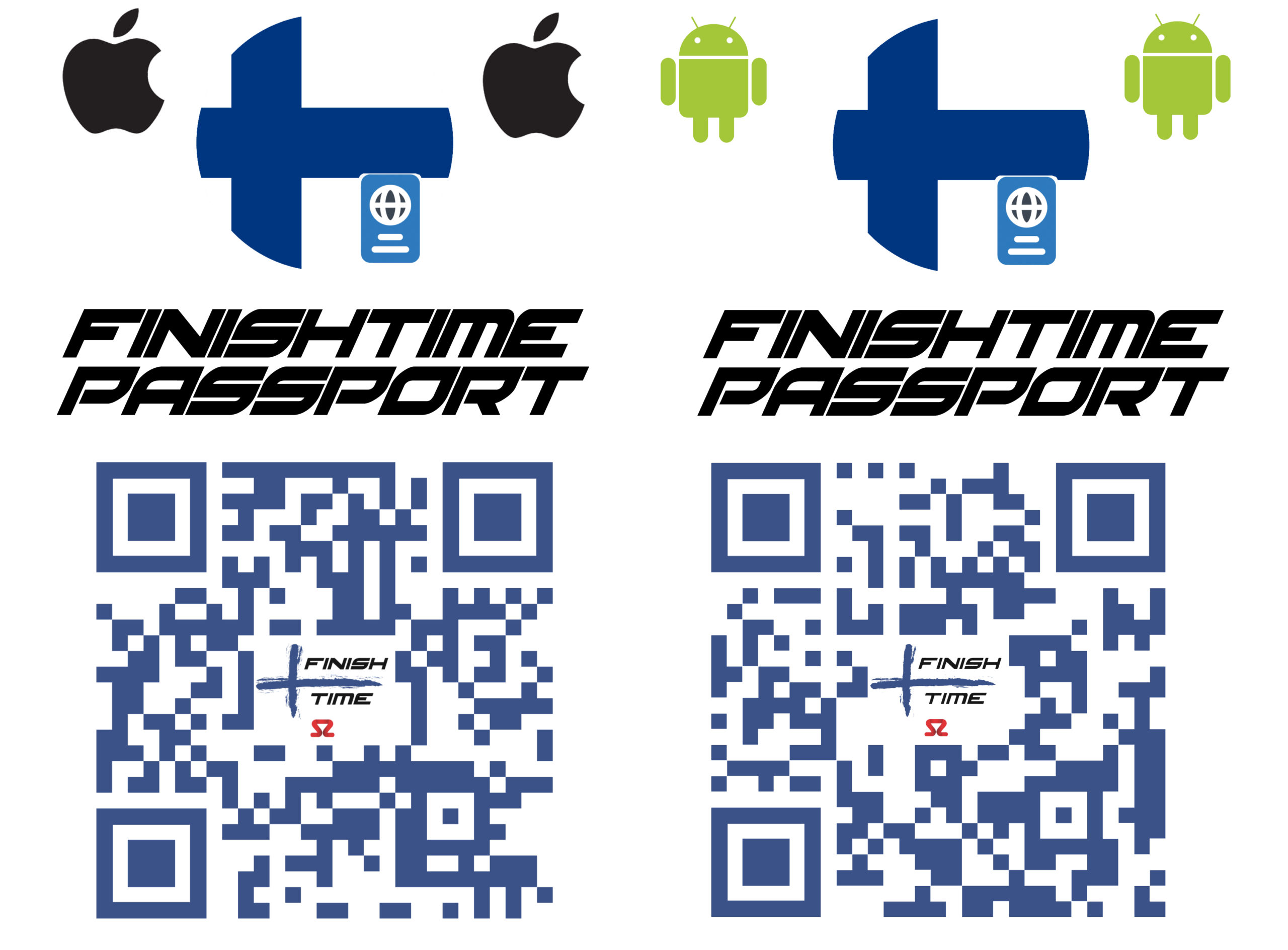Finish Time Passport QR Codes